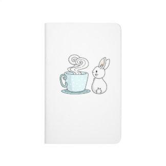 Carnet De Poche Lapin avec une tasse de thé
