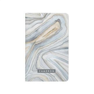 Carnet De Poche Le gris a marbré la conception abstraite