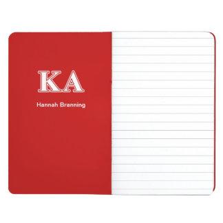 Carnet De Poche Lettres blanches et rouges d'alpha ordre de Kappa