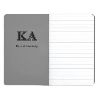 Carnet De Poche Lettres noires d'alpha ordre de Kappa