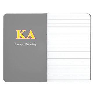 Carnet De Poche Lettres rouges et jaunes d'alpha ordre de Kappa