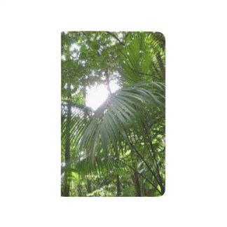 Carnet De Poche Lumière du soleil par le vert tropical d'auvent de
