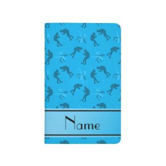 Carnet De Poche Lutteurs nommés personnalisés de bleu de ciel