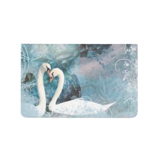 Carnet De Poche Mariage floral bleu de cygne romantique