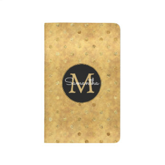 Carnet De Poche Monogramme chic de points d'or