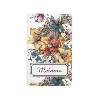 Carnet De Poche Motif dessiné réaliste de bouquet floral et