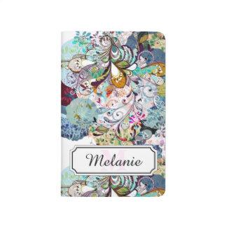 Carnet De Poche Motif floral abstrait multicolore de recouvrement