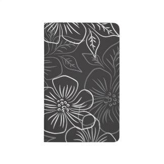 Carnet De Poche Motif floral blanc noir à la mode