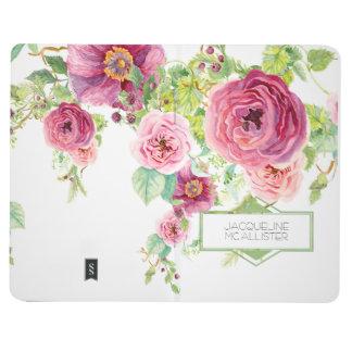 Carnet De Poche Motif floral de treillis de roses de pivoine