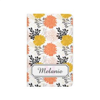 Carnet De Poche Motif floral oriental dans le motif vintage de