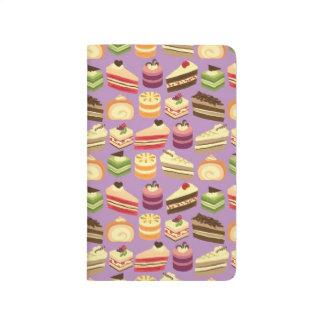 Carnet De Poche Motif illustré par gâteaux mignons de thé et