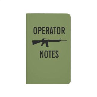 CARNET DE POCHE NOTES D'OPÉRATEUR - M16