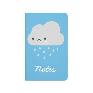 Carnet De Poche Nuage de pluie triste de Kawaii