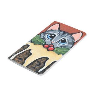 Carnet De Poche Peinture triste de pudding de chat tigré et de
