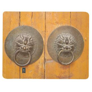 Carnet De Poche Poignées en bois chinoises de porte de porte