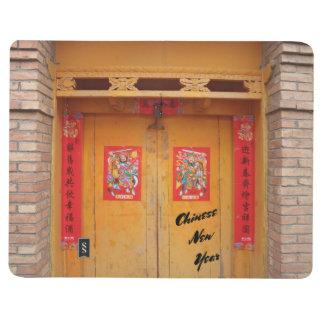 Carnet De Poche Portes décorées chinoises pendant la nouvelle
