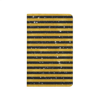 Carnet De Poche Rayure élégante d'or - coutume votre couleur