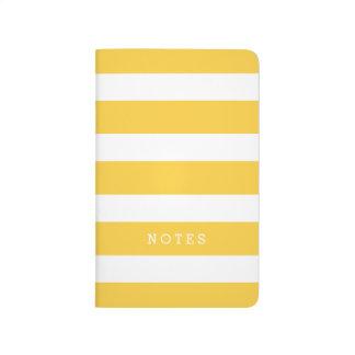 Carnet De Poche Rayures classiques jaunes et blanches