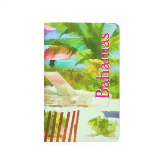 Carnet De Poche Scène Painterly de plage de vacances d'été des