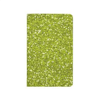 Carnet De Poche Scintillement élégant de vert de chaux