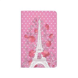 Carnet De Poche Silhouette élégante élégante de Tour Eiffel de