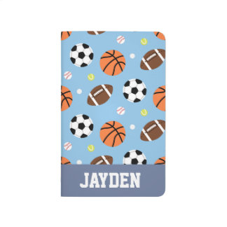 Carnet De Poche Sports de boules - motif orienté pour des garçons