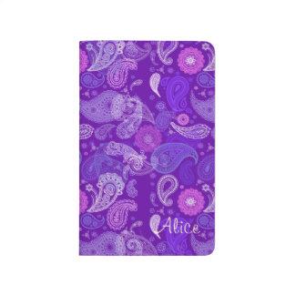 Carnet De Poche Violette et calendrier floraux de Paisley