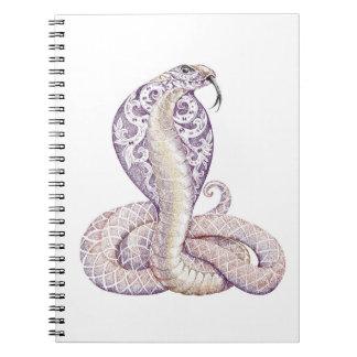Carnet de tatouage de serpent de cobra