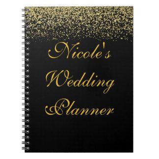 Carnet de wedding planner de confettis de