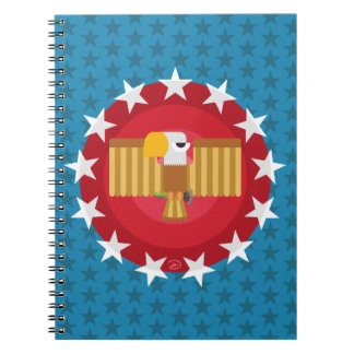Carnet d'Eagle de liberté (bleu) -
