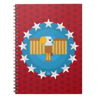 Carnet d'Eagle de liberté (rouge) -