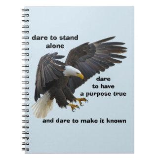 Carnet Défi seul à tenir, édition américaine d'Eagle
