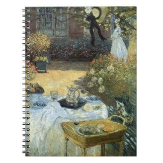 Carnet Déjeuner par Claude Monet, impressionisme vintage