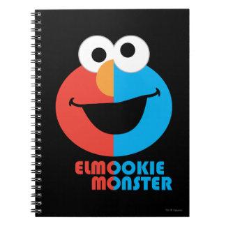Carnet Demi de visage d'Elmo et de biscuit