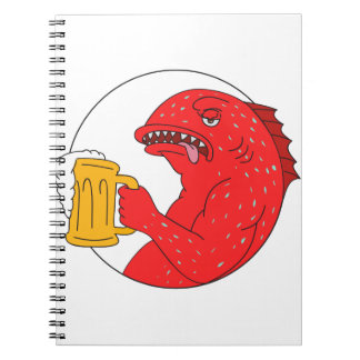 Carnet Dessin de corail de cercle de tasse de bière de