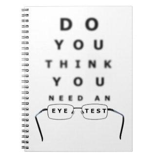 Carnet Diagramme d'essai d'oeil