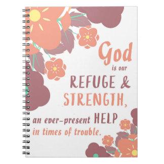 Carnet Dieu de 46:1 de psaume est notre refuge et force…