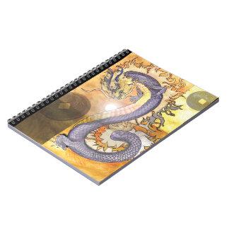Carnet Dragon~notebook d'or