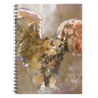 Carnet Eagle dans l'aquarelle