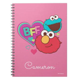 Carnet Elmo et monstre de biscuit - BFF
