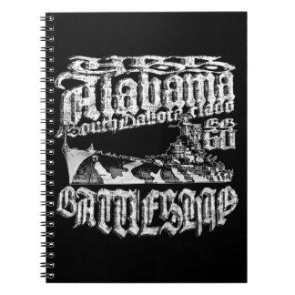 Carnet en spirale de photo de l'Alabama de