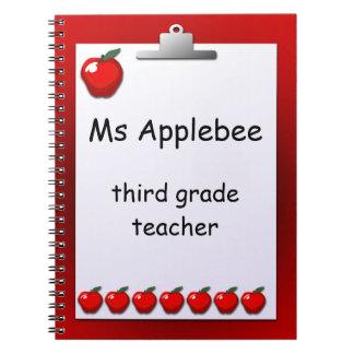 Carnet fait sur commande de pommes de professeur