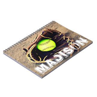 Carnet fait sur commande du base-ball de Fastpitch