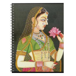 Carnet Femme indienne vintage, art de Mughal