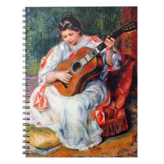 Carnet Femme jouant la guitare par Pierre Renoir