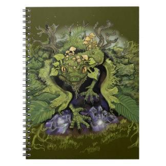 Carnet Feuillage Dragon~notebook de forêt