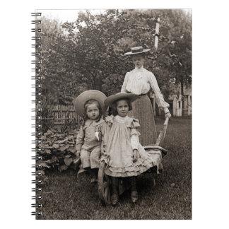 Carnet Fille de jardinage 1890 de mère de jardin
