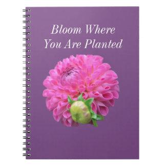 Carnet Fleur où vous êtes plantés