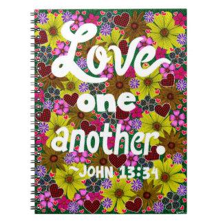 Carnet Fleurs et vers de bible de typographie de
