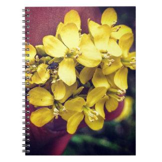 Carnet Fleurs jaunes